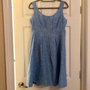 Lightweight powder blue dress with pockets